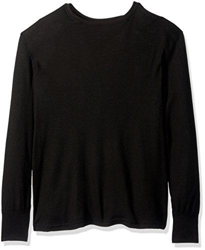 Fruit of the Loom Men's Premium Natural Touch Thermal Top, Rich Black, Medium