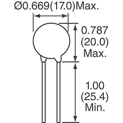 LITTELFUSE V56ZA8P ZA Series 45 VDC 35 V RMS 110 V Clamp 1000 A 3900 pF Radial Lead Varistor 50 item s