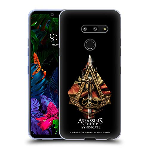 Official Assassin's Creed Weapons and Flag Syndicate Logo Art Soft Gel Case Compatible for LG G8 - Art Wfl