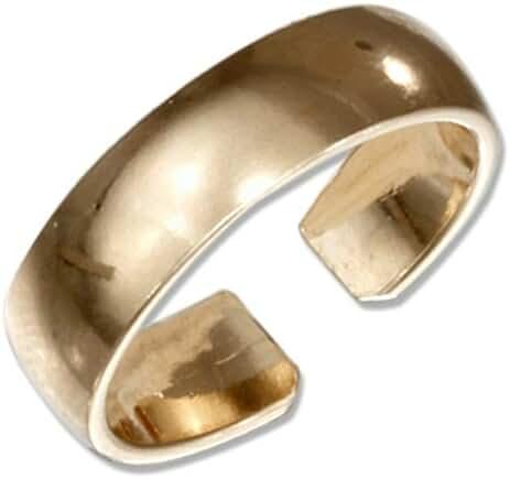 6mm 14k Gold Filled Plain Band Adjustable Toe Ring