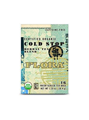 - FLORA Cold Stop Tea 16 Bags, 0.03 Pound
