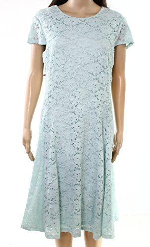 Alfani Floral Dress - Alfani Tear Drop Women's Floral Lace A-Line Dress Blue 16