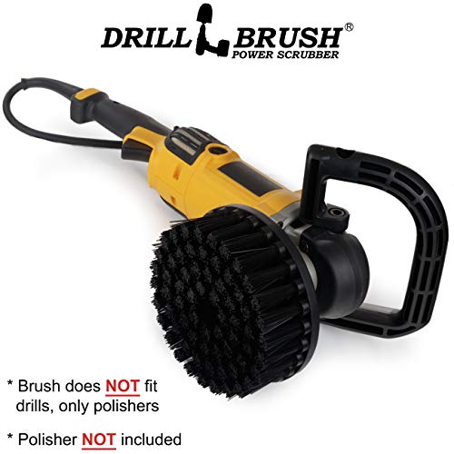 Industrial - DA - Scrub Brush - 7-in Black Ultra Stiff Bristles - Variable Speed Polisher - 5/8 x 11 Threaded Hub - Floor Cleaner - Furnace - Grill - Grate - Stone - Grill Brush - Rust Remover - Brick