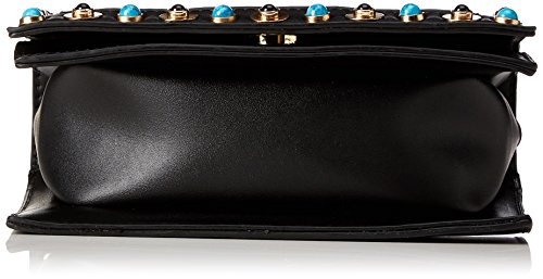 PIECES Damen Pcnanette Cross Body Umhängetasche, Schwarz (Black), 3 x 26 x 26 cm