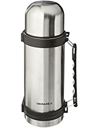 Win 2401 Uniware Stainless Steel 1 Liter Travel Vacuum Flask dispense