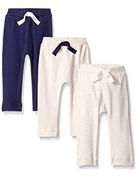 NatureNow Unisex-Baby Baby Organic Cotton Pants 3-Pack
