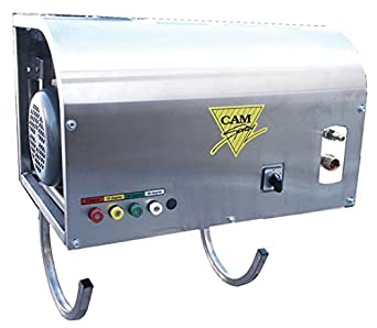 Cam Spray 2000WM/SSM3 Deluxe Wall Mount Electric Powered Cold Water Pressure Washer, 2000 psi, 50' Hose