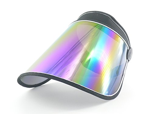 Oidon Plastic Sun Visor UV Protection Hat Cap (Black)