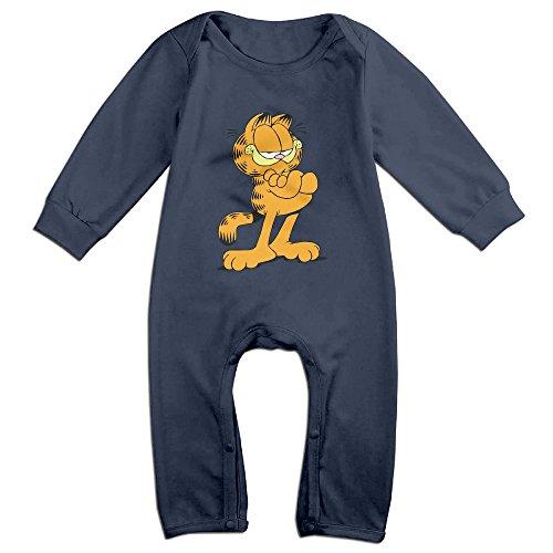 Cute The Garfield Bodysuit For Newborn Baby Navy Size 18 Months
