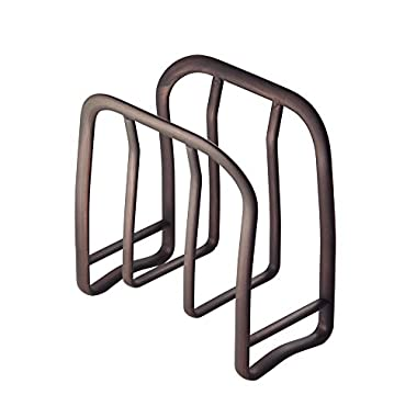 InterDesign Axis Napkin Holder for Kitchen Countertops, Table - Bronze