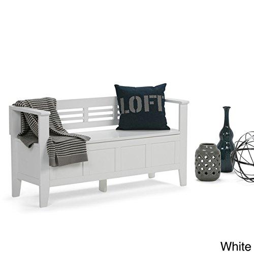 Chandler Entryway Storage Bench (White) by Wynden Hall