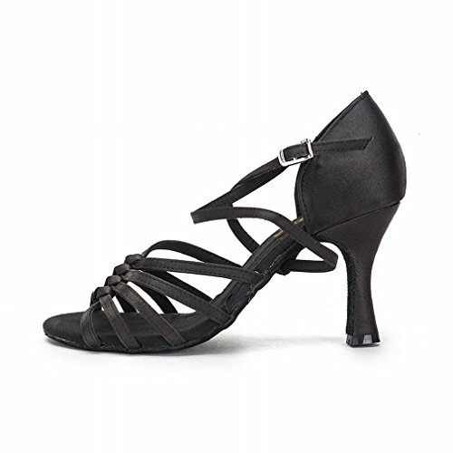 Jazz Strap Samba Black Adult Modern Dance Onecolor Latin BYLE Ankle Shoes Dance Leather Bottom Soft Dance Sandals with Shoes Shoes 4wqUgY