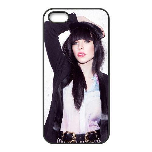 Carly Rae Jepsen 003 coque iPhone 5 5S cellulaire cas coque de téléphone cas téléphone cellulaire noir couvercle EOKXLLNCD22673