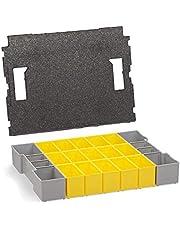 L-BOXX Bosch Sortimo Inzetboxenset, 102 stuks, B3-inzetstukken met dekselinleg, eersteklas sorteerdozen voor kleine onderdelen, ideale sorteerbox schroeven, klein