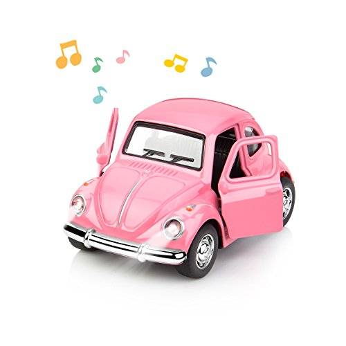 1:38 Diecast Car Play Vehicles Classic Diecast Model Cars Moving Toys Pull Back Action with Lights and Music (Classic Vehicle)
