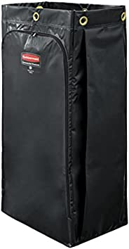 Rubbermaid Commercial Executive Series High Capacity Cleaning Cart Bag, 34 Gallon, Black, 1966886