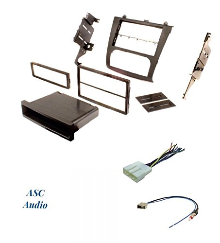 premium car stereo install dash kit, wire harness, and antenna adapter for  installing an