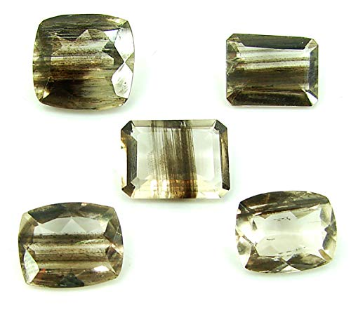 15.40 Ct Natural Scapolite Loose Gemstone Faceted Cut Lot of 5 Pcs Stone - 28056