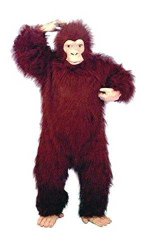 Green Gorilla Adult Costumes (OvedcRay Gorilla Ape Adult Mens Costume Chimpanzee Monkey Animal Mascot Black Blue Red)