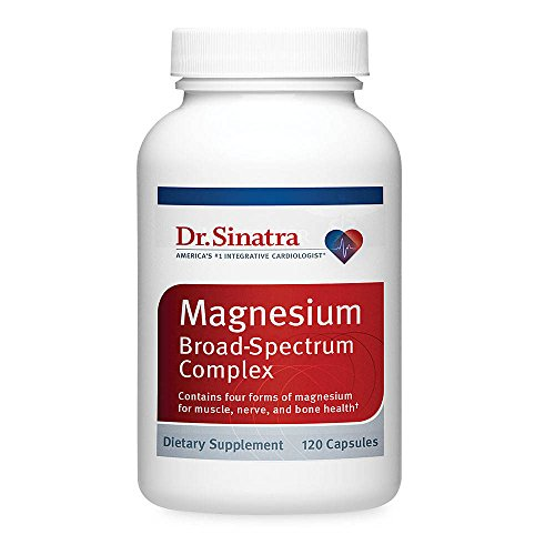 Dr. Sinatra's Broad Spectrum Magnesium Supplement for Healthy Blood Pressure, Strong Bones, and Increased Energy, 120 capsules (30-day supply)