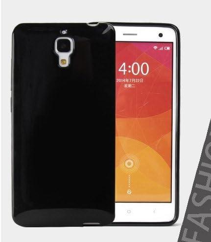 Prevoa ® 丨Protective TPU funda de silicona de gel para Xiaomi 4 M4 Mi4 Smartphone - Negro