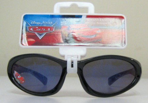 Disney Pixar Cars Black with Red Inside Trim Lightning Mcqueen Children's Sunglasses -