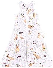 Chilsuessy baby sovsäck för sommar 100 % bomull unisex, spädbarn sovsäck bärbar filt sovsäck 90-110 cm för spädbarn småbarn 18 till 36 månader 90/Baby height 90-105cm Söt kanin