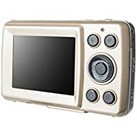 MagiDeal HD 720P 16 Mega Pixels CMOS 2.4 inch TFT LCD Screen 4x Digital Zoom Camera Gold