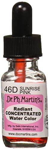 - Dr. Ph. Martin's Radiant Concentrated Water Color, 0.5 oz, Sunrise Pink (46D)