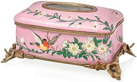 葉巻灰皿, ヨーロッパアメリカの中国のホームファニシングアクセサリーセラミック灰皿1672スクエア銅デコレーション、ティッシュボックスが売春婦美容ソフトフィット