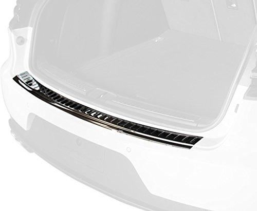 (ZIC Motorsports 2014-2017 Porsche Macan - Graphite Stainless Steel Rear Bumper Protector Guard)