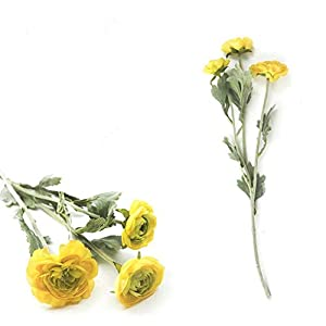 3 Heads Artificial Buttercup Flowers for Home Decoration Decor Real Touch Fake Flower Artificial Rose Peony Ranunculus Asiaticus,B 25