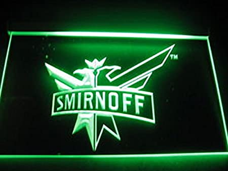 Smirnoff Vodka - Cartel de neón con iluminación LED, color ...