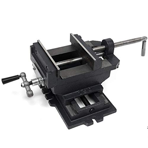 "XtremepowerUS 4"" 2-Way Cross Slide Drill Press Vise Clamping Bench Top Mounting Holder"