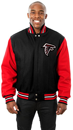 Atlanta Falcons Men's Wool Jacket with Embroidered Applique Team Logos (3X)