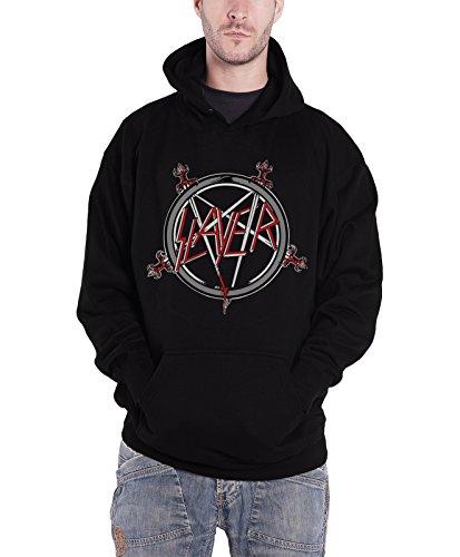 Slayer Pentagram Logo Official Mens Black Pullover Hoodie