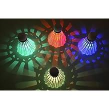 Itian LED Badminton Shuttlecock Dark Night Glow Birdies Lighting For Outdoor & Indoor Sports Activities, 4-piece
