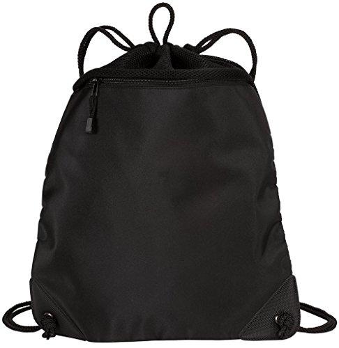 Drawstring Backpacks with Mesh Trim Heavy Duty Gym Sacks for Performance, Travel, Shopping (Custom Cinch Bags)