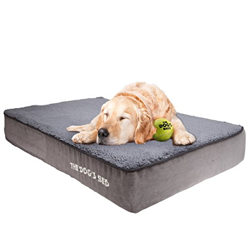 The Dogs Bed, Premium Orthopedic Memory Foam Waterproof Dog Beds, Many Colors/Sizes, Eases Pain of Arthritis & Hip Dysplasia, Therapeutic & Supportive Bed, Washable Quality Plush Fabric Cover