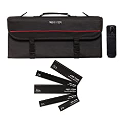 Pro-Series Tri-fold bag is constructed of durable nylon/polyester and has reinforced panels to secure and protect your cutlery. The inside features 12 pockets with elastic to securely hold your favorite knives and and 1 large Mesh pocket for ...