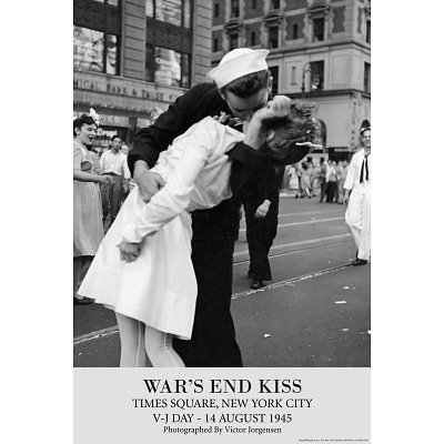 (24x36) Victor Jorgensen War's End Kiss VJ Day Art Print Poster (End Kiss Wars)