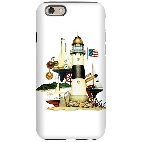 iPhone 6 Tough Case Nautical Lighthouse Telescope Anchor ()