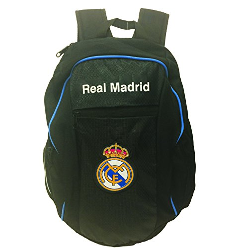 Real Madrid Back Pack for KIDS, a 15'' Real Madrid Jr. Backpack Black by Icon Sport