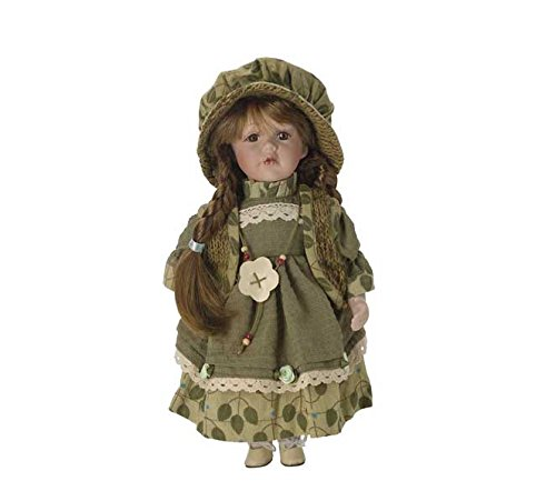 Carlota BAM001 - Bambola di porcellana di 30cm, con supporto - Hobby Work