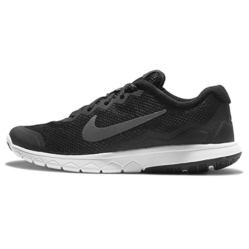 Nike Womens Flex Experience RN 4 (Black/grey/white) Running Shoe, Black/Grey/White, 42.5 B(M) EU/8 B(M) UK
