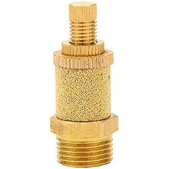 Joywayus Pneumatic Muffler Long Exhaust Muffler 3//4 NPT Male Brass Flow Control Silencer Air Fitting
