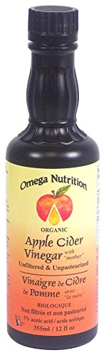 Omega Nutrition Certified Organic Apple Cider Vinegar, 12-Ounces