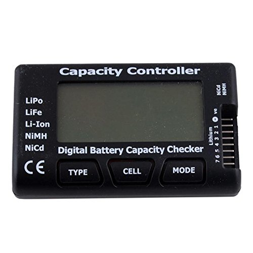 Nicad Battery Tester - Phoneix LCD Battery Capacity Checker Tester Portable CellMeter for LiPo LiFe Li-ion NiMH Nicd