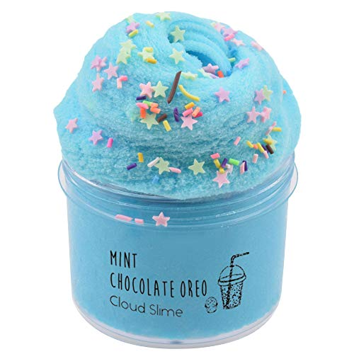 Donut Cloud Slime Fluffy Foam Slime Scented Slime Clay Sludge Beading Supplies Toys for Adults and Kids 8oz