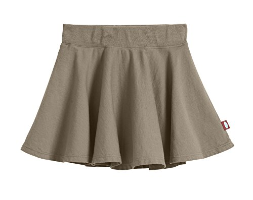 City Threads Big Girls' Cotton Twirly Skirt Perfect For Sensitive Skin/SPD/Sensory Friendly For School or Play Fall/Spring, Dark Khaki, Size - -